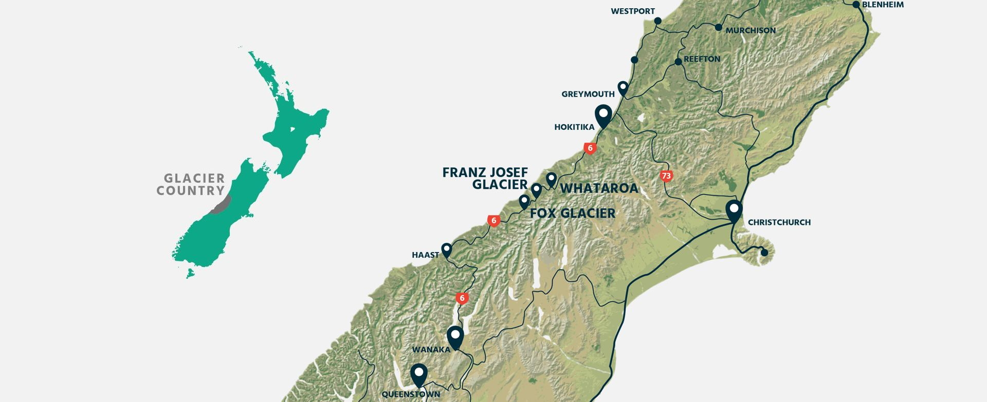 Visitor Guide Fox Glacier & Franz Josef Glacier Accommodation West Coast New Zealand